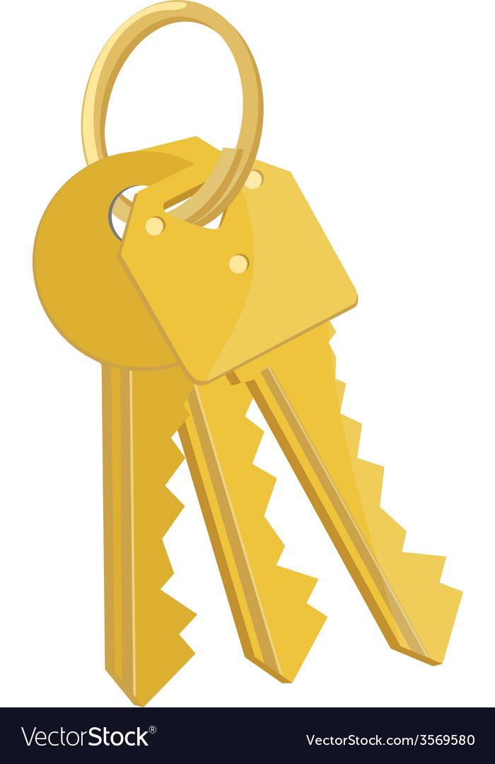 Bunch of keys vector | Price: 1 Credit (USD $1)