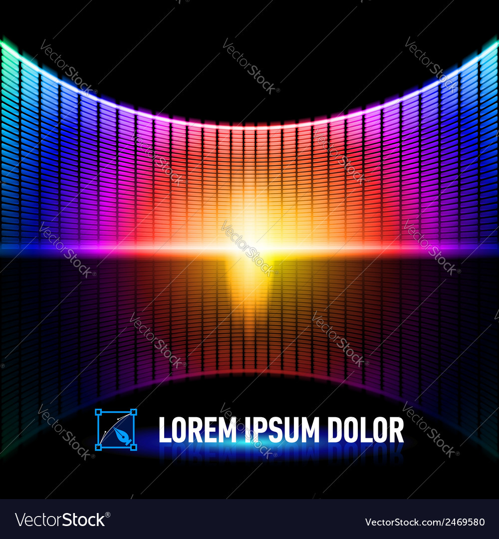 Color of music vector | Price: 1 Credit (USD $1)