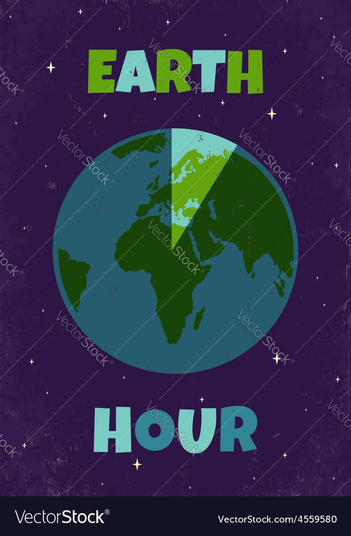 Earht hour vector | Price: 1 Credit (USD $1)