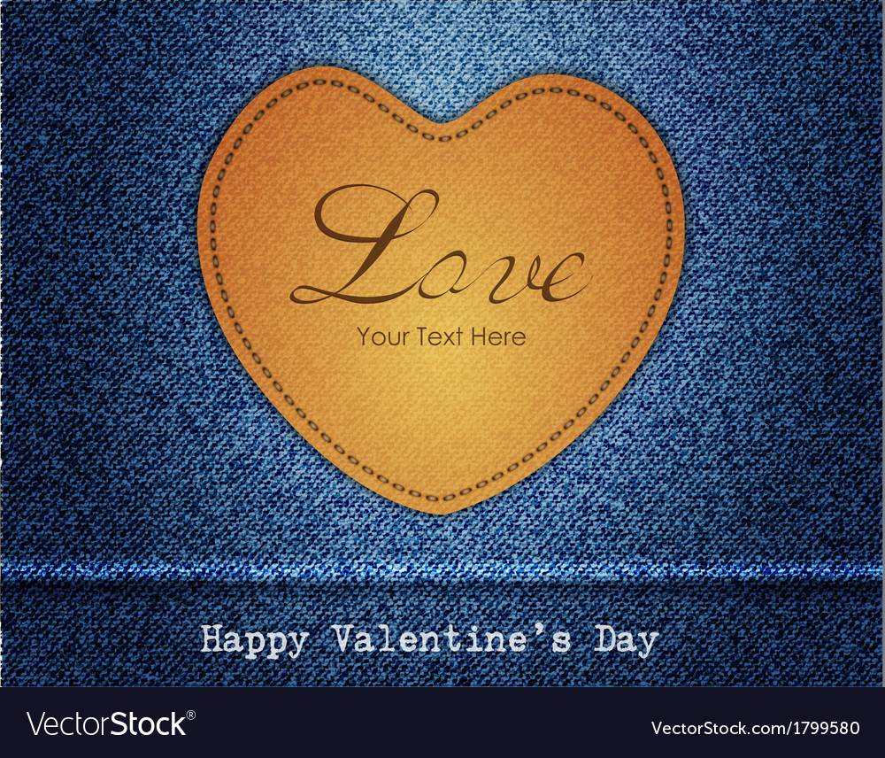 Happy valentine day jeans background vector | Price: 1 Credit (USD $1)