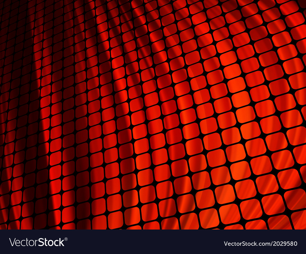 Red waves light 3d mosaic eps 10 vector | Price: 1 Credit (USD $1)