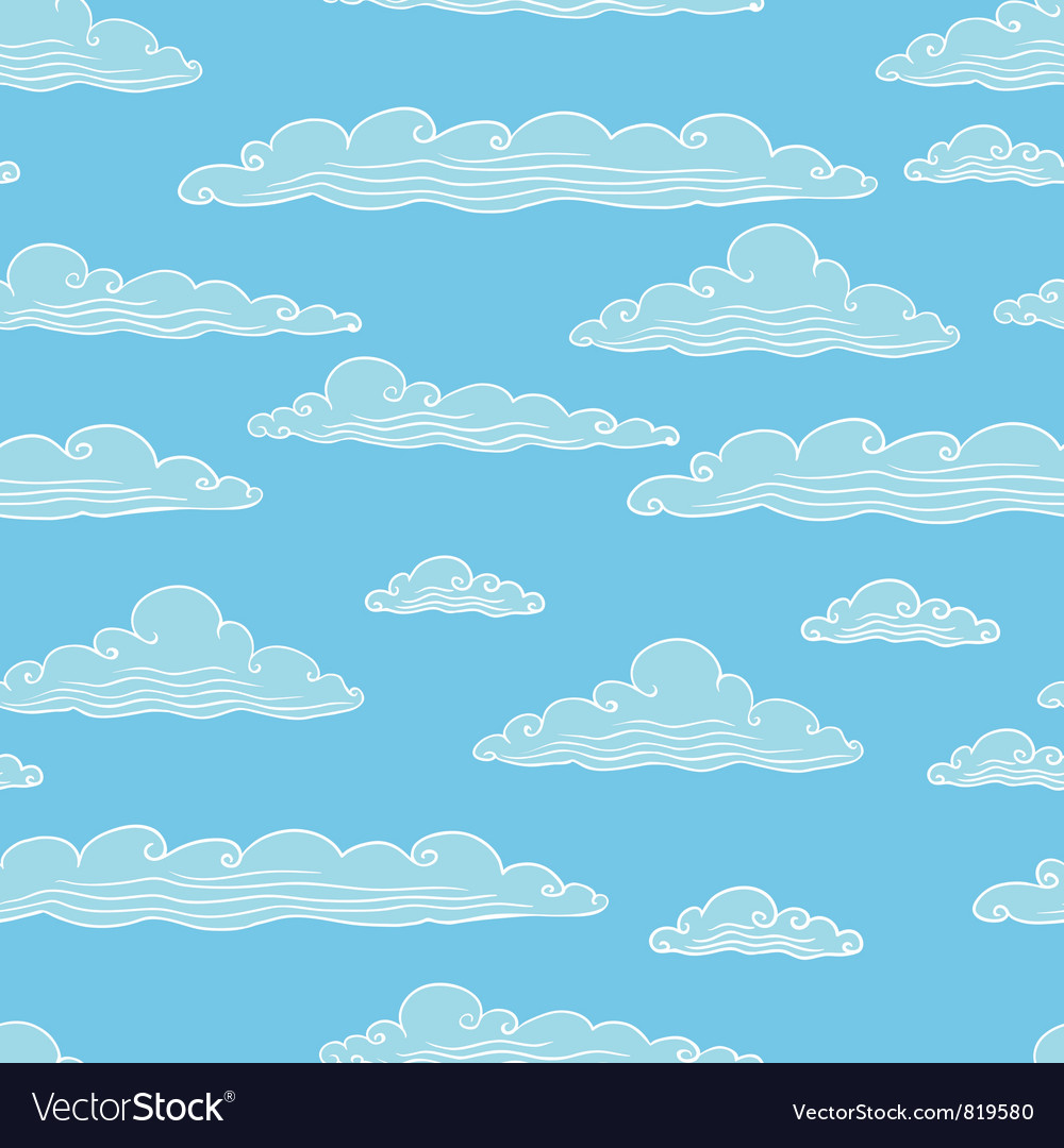 Seamless background with clouds vector | Price: 1 Credit (USD $1)