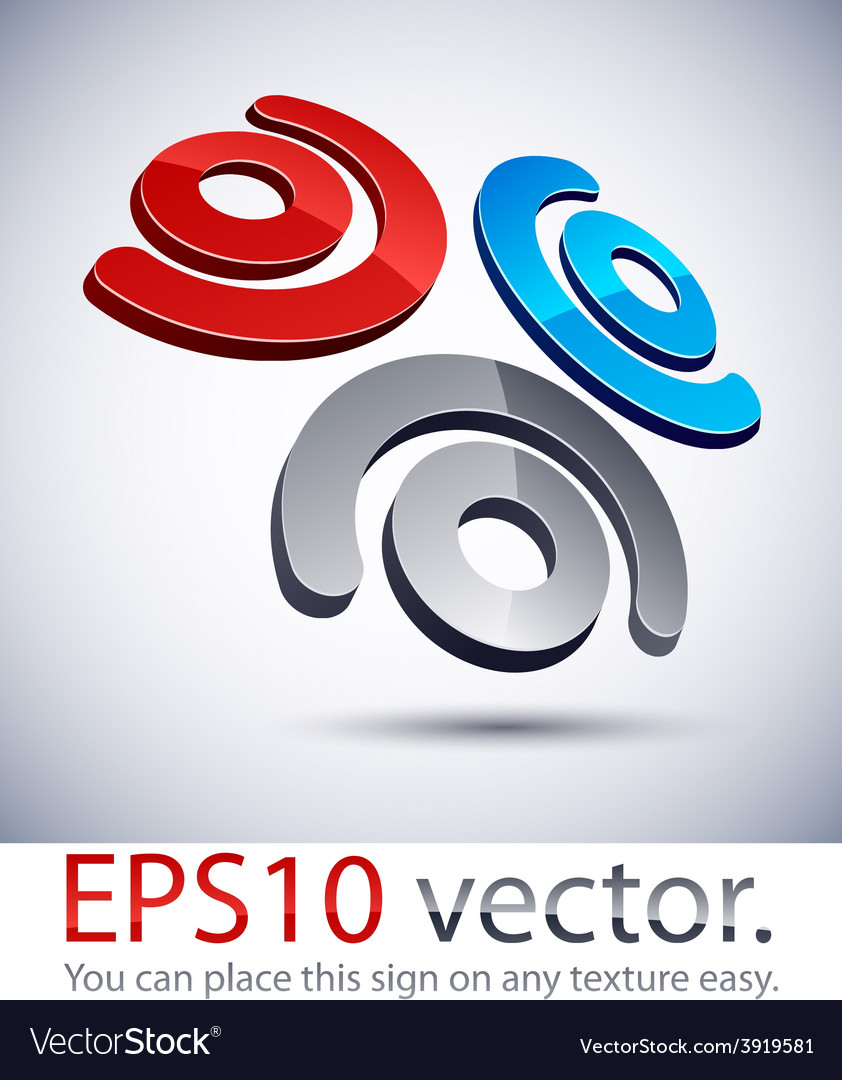 3d modern logo icon vector | Price: 1 Credit (USD $1)