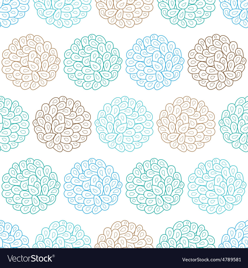 Drops bubbles seamless pattern vector | Price: 1 Credit (USD $1)
