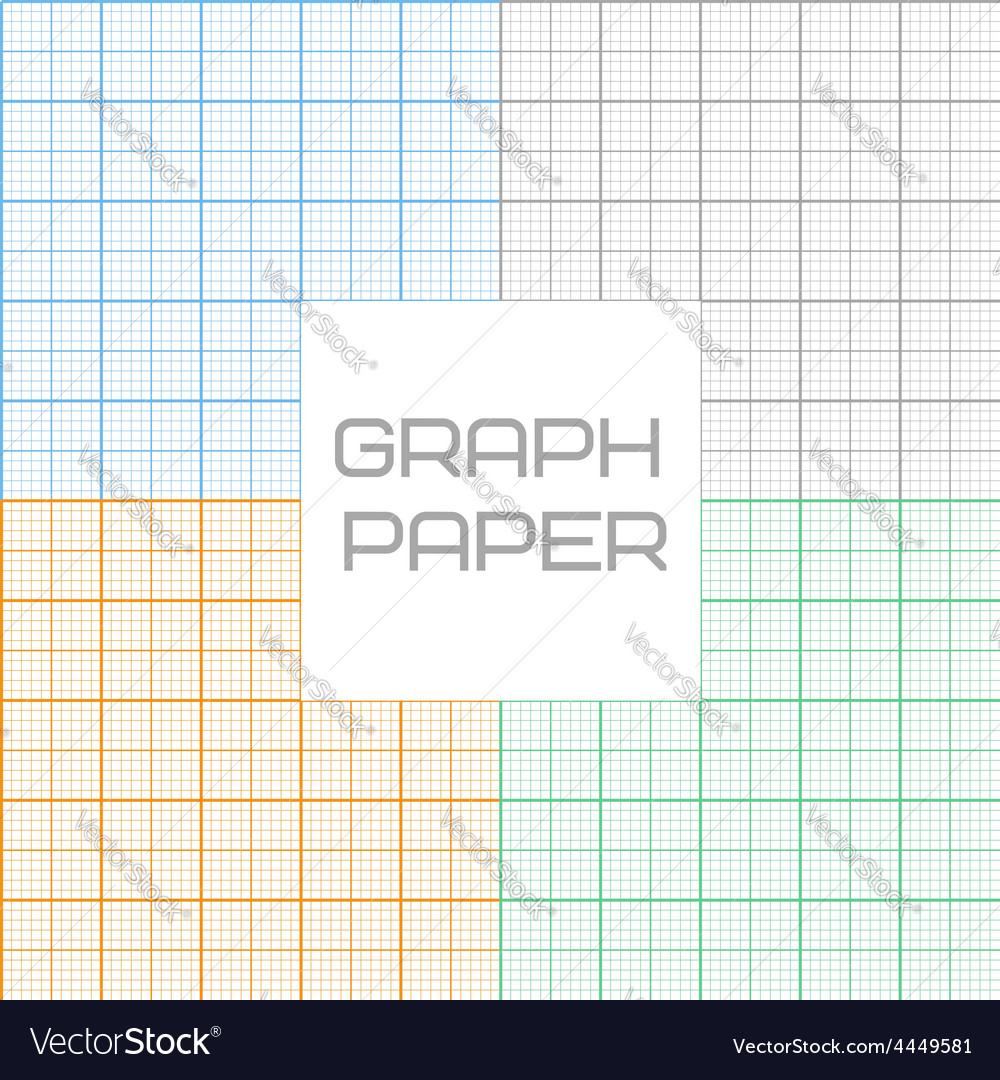 Graph millimeter paper seamless pattern set vector | Price: 1 Credit (USD $1)