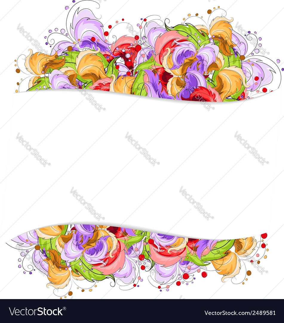 Multi colored flowers frame vector | Price: 1 Credit (USD $1)