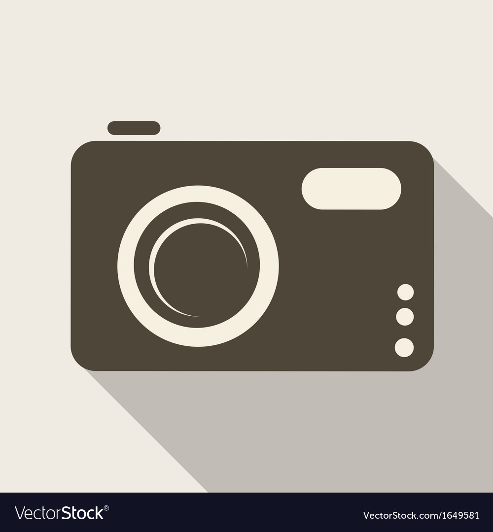 Photo camera web icon vector | Price: 1 Credit (USD $1)