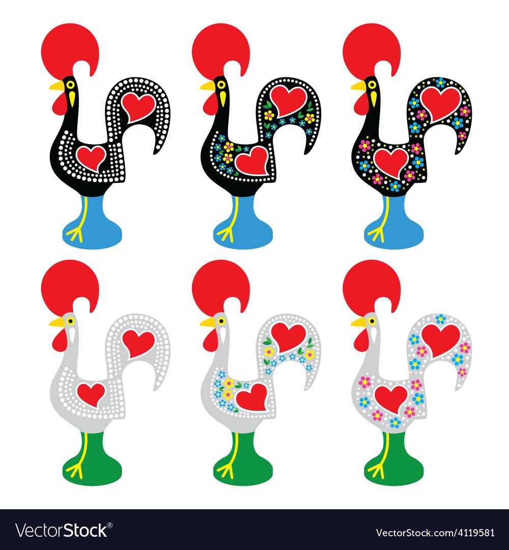 Portuguese rooster of barcelos - galo de barcelos vector   Price: 1 Credit (USD $1)