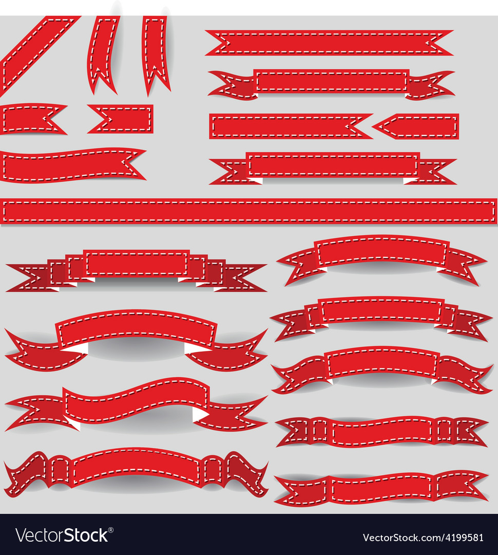 Red ribbons vector | Price: 1 Credit (USD $1)