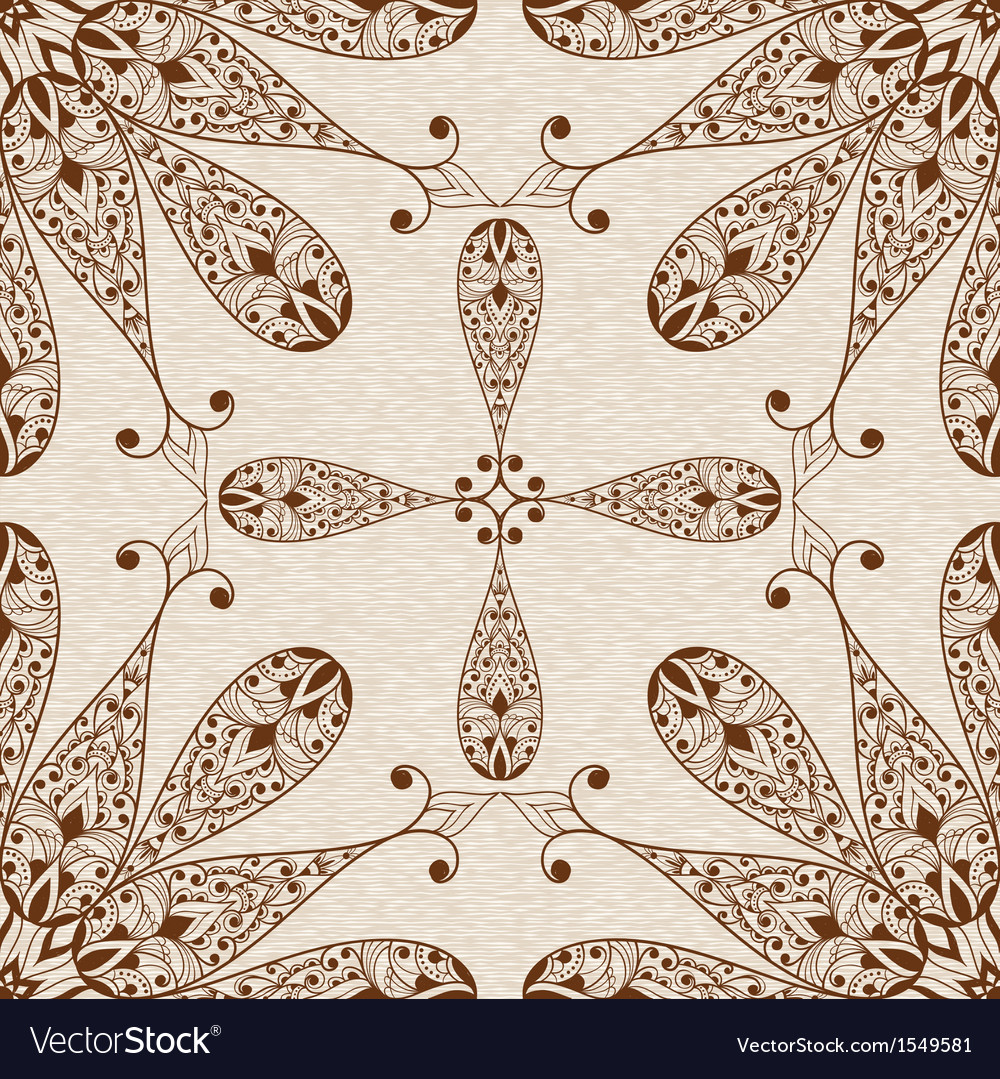 Seamless abstract ethnic floral patten vector