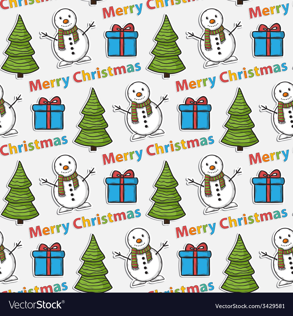 Seamless christmas patternsticker vector | Price: 1 Credit (USD $1)