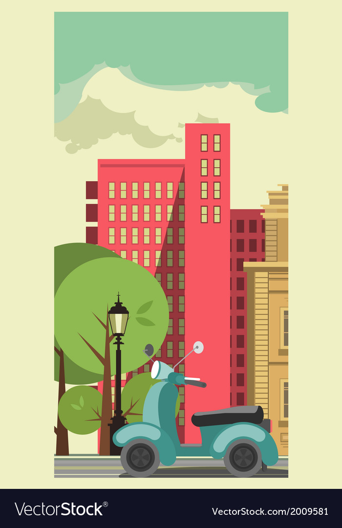 Transportation in the city vector | Price: 1 Credit (USD $1)