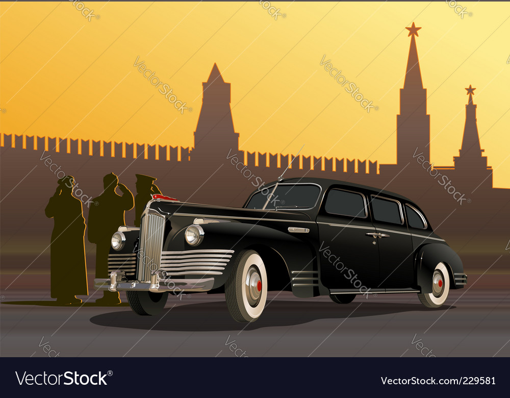 Vintage limousine vector | Price: 5 Credit (USD $5)