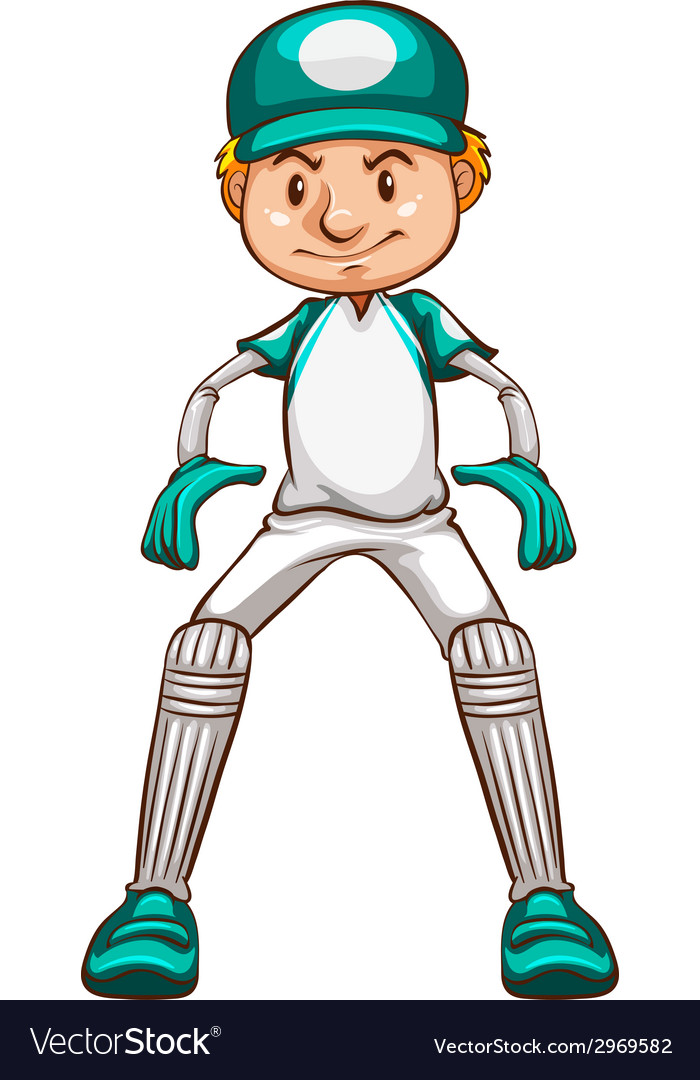 A simple sketch of a cricket player vector | Price: 1 Credit (USD $1)