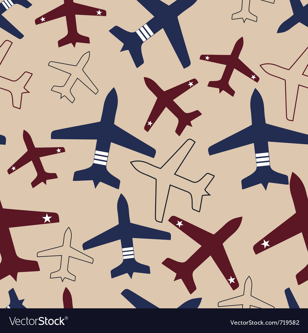 Aircraft airplane seamless vector | Price: 1 Credit (USD $1)