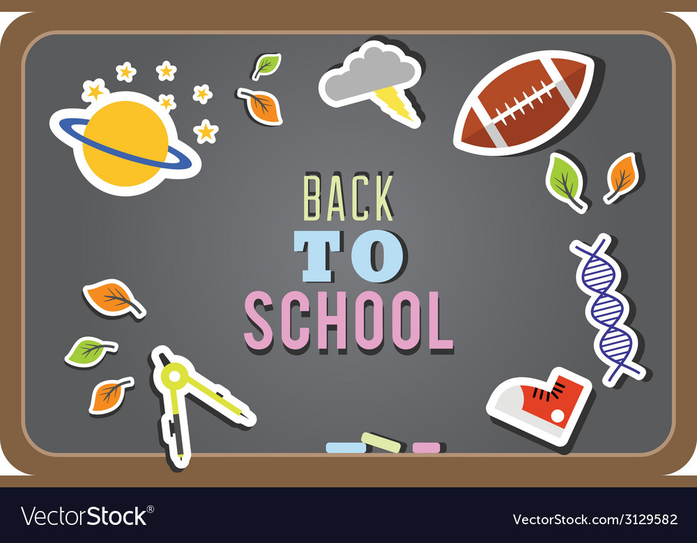 Back to school background and education icons vector | Price: 1 Credit (USD $1)