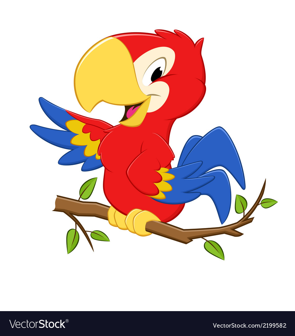 Cartoon parrot vector | Price: 1 Credit (USD $1)