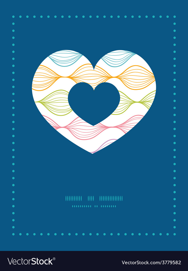 Colorful horizontal ogee heart symbol frame vector | Price: 1 Credit (USD $1)