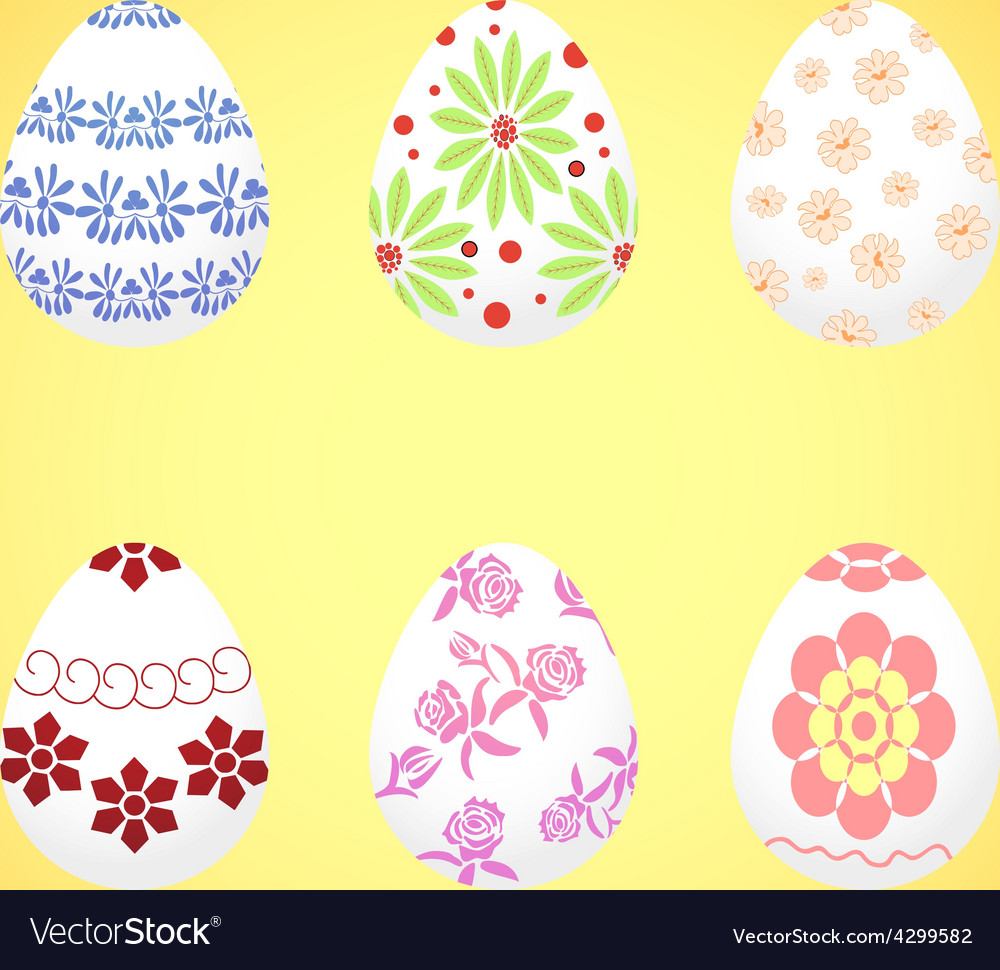 The dyed eggs for easter vector | Price: 1 Credit (USD $1)