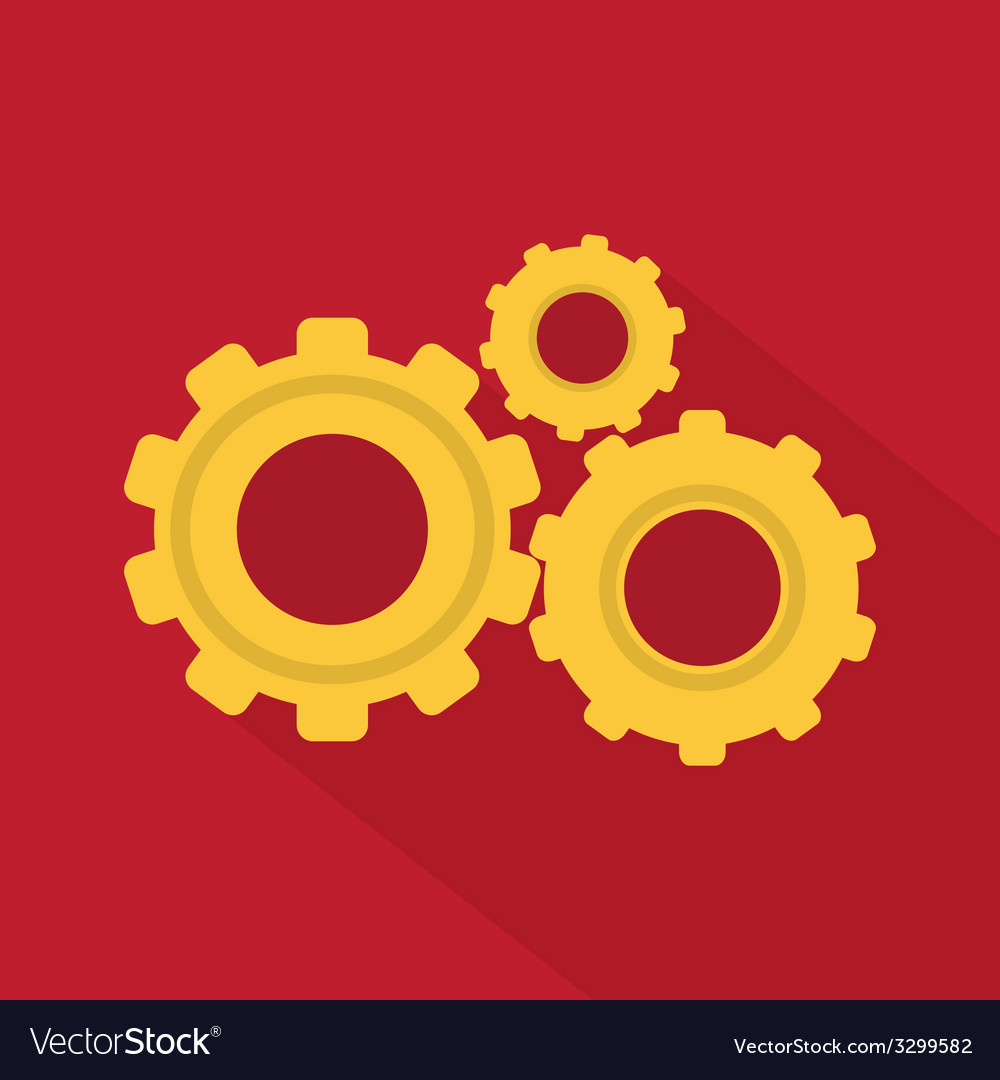 Flat style icon with long shadow vector | Price: 1 Credit (USD $1)