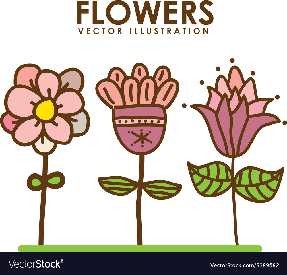Flowers design vector | Price: 1 Credit (USD $1)