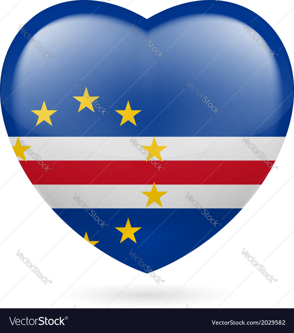 Heart icon of cape verde vector | Price: 1 Credit (USD $1)