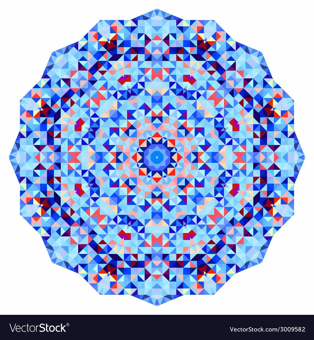 Mosaic round banner vector | Price: 1 Credit (USD $1)