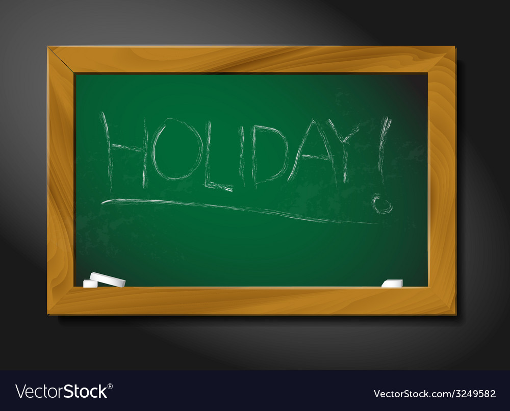 School blackboard - holiday vector | Price: 1 Credit (USD $1)