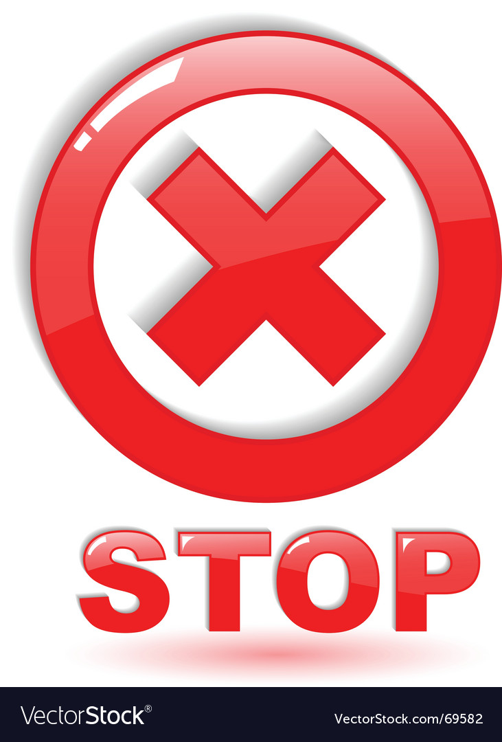 Stop symbol on white vector | Price: 1 Credit (USD $1)