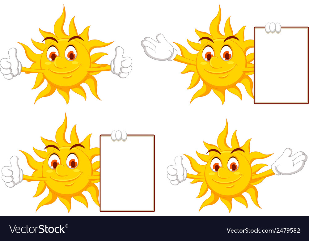 Sun cartoon collection vector | Price: 1 Credit (USD $1)