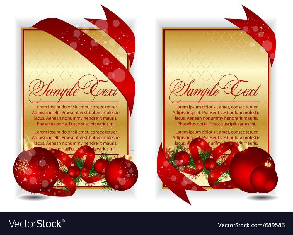 Gold christmas banners vector | Price: 1 Credit (USD $1)