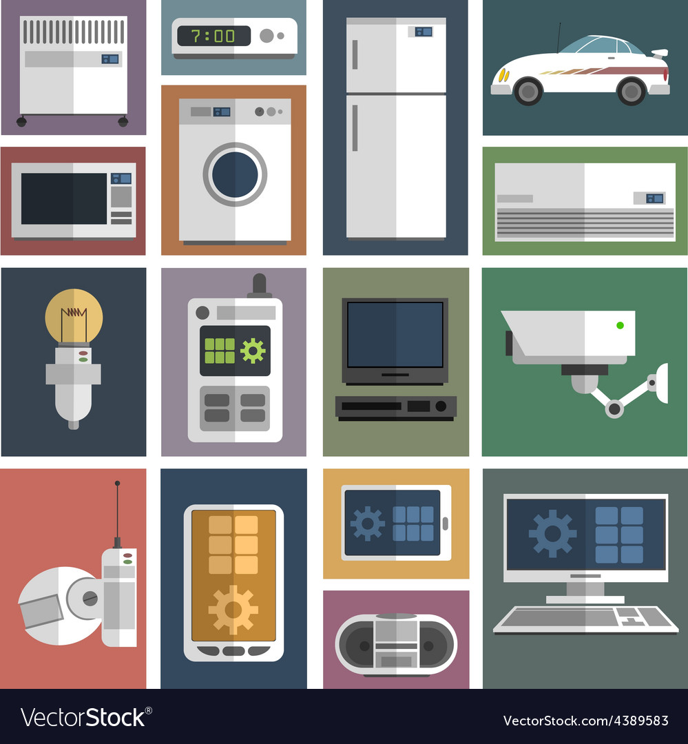 Internet things icons set flat vector | Price: 1 Credit (USD $1)