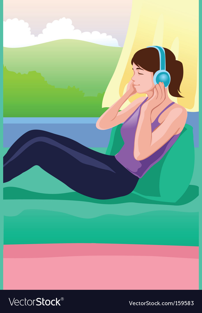 Listening to music vector   Price: 1 Credit (USD $1)