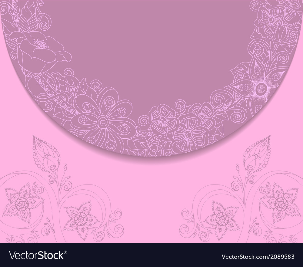 Vintage background with lace and floral ornaments vector | Price: 1 Credit (USD $1)