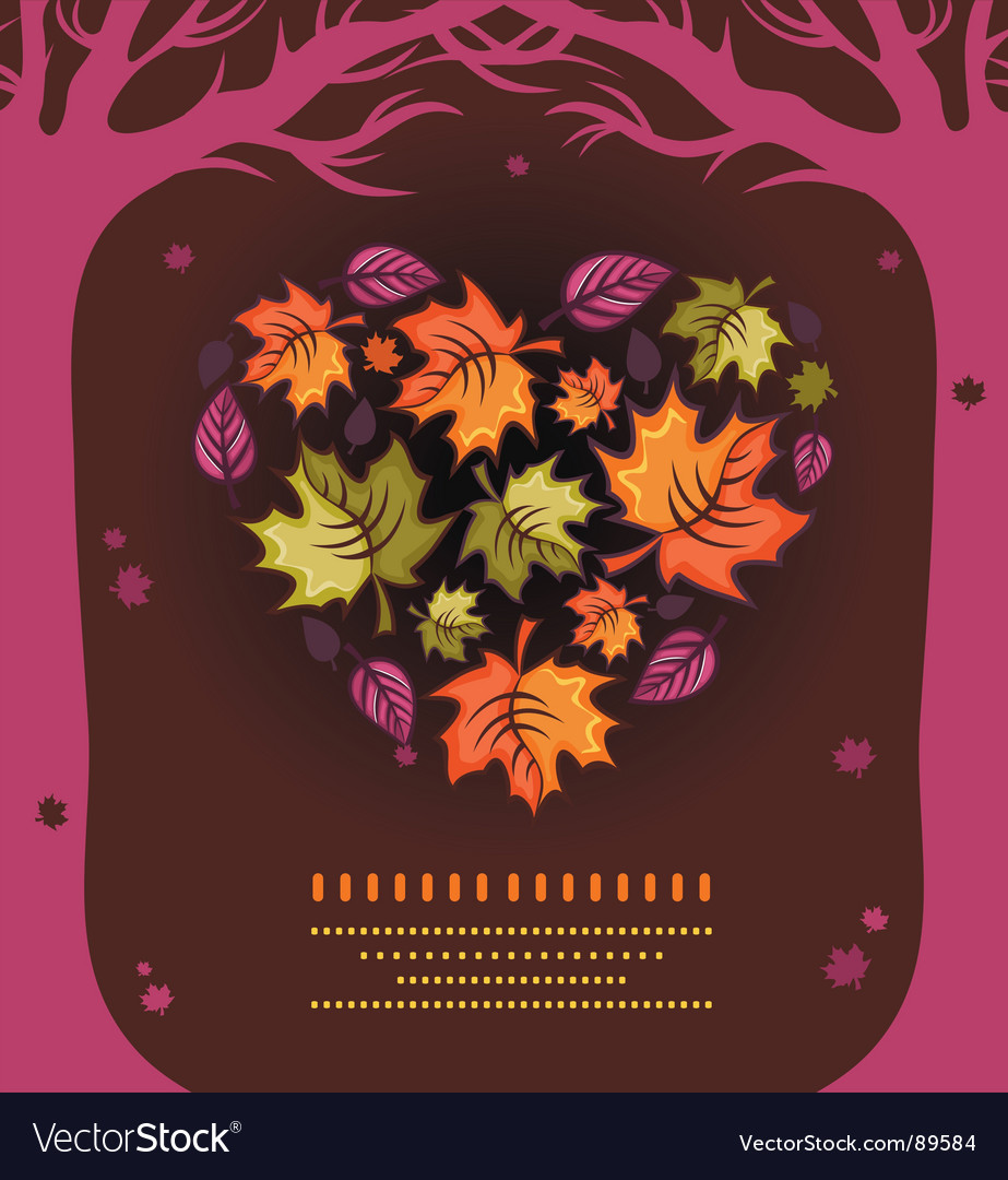 Autumn heart vector | Price: 1 Credit (USD $1)