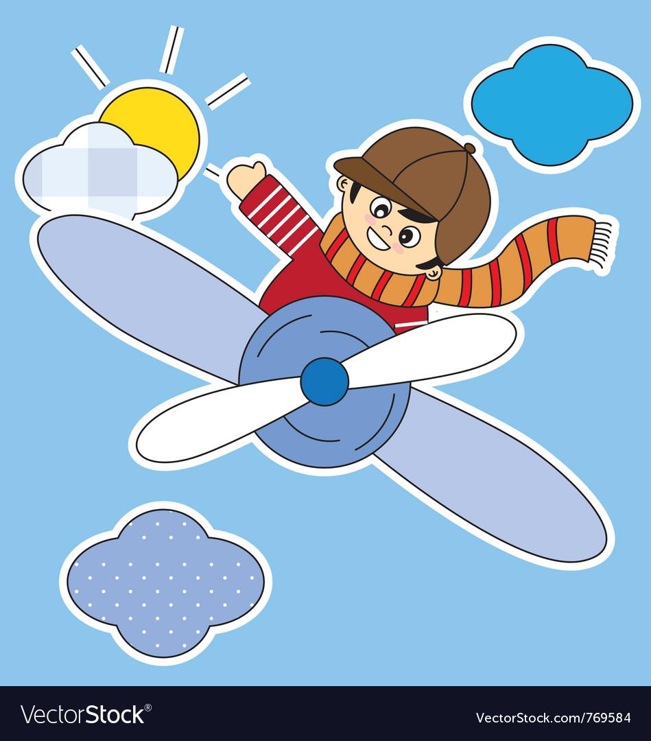 Child plane vector | Price: 1 Credit (USD $1)