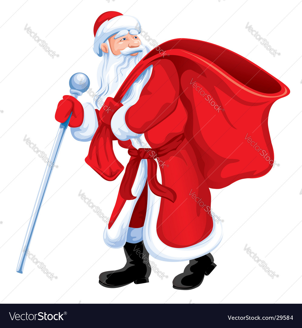 Christmas santa grandfather frost vector | Price: 3 Credit (USD $3)