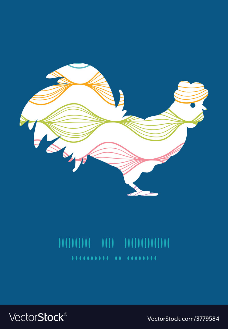 Colorful horizontal ogee rooster silhouette vector   Price: 1 Credit (USD $1)