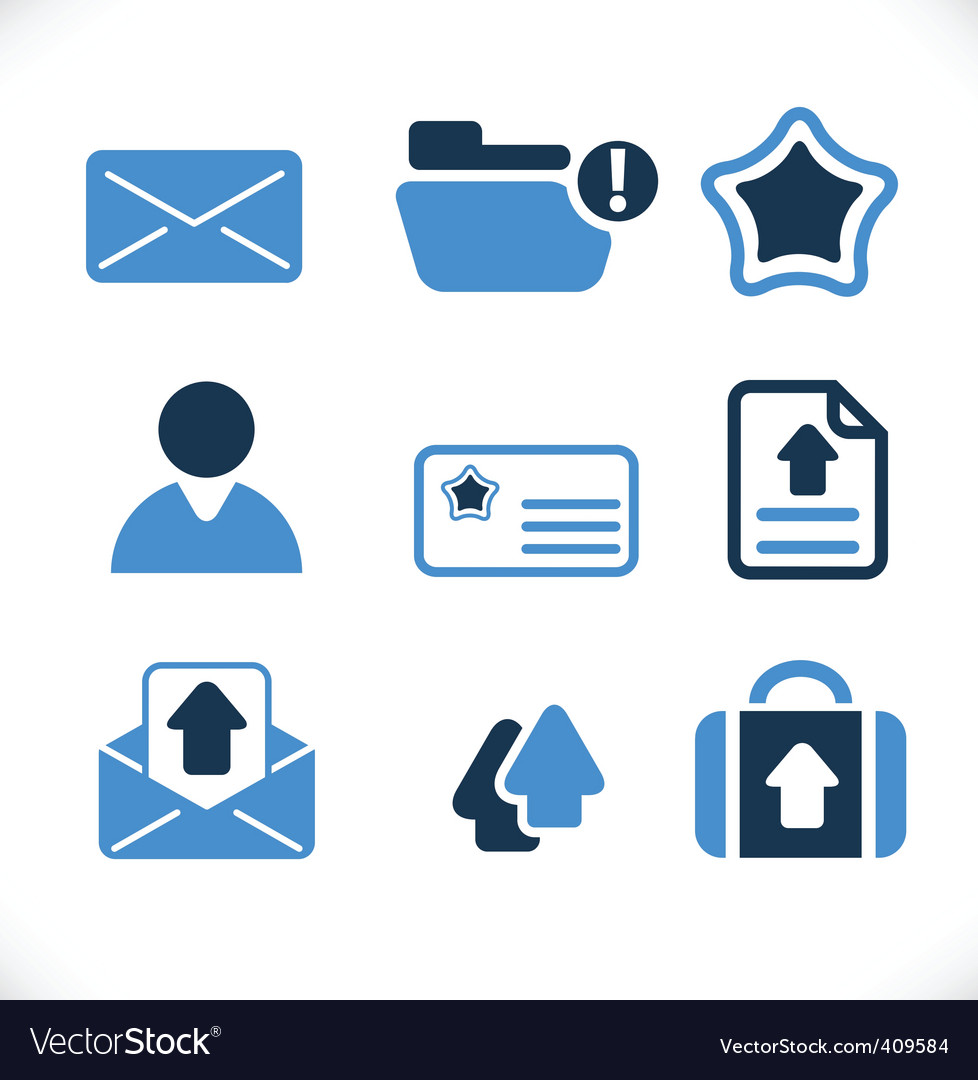Communication  mail signs vector | Price: 1 Credit (USD $1)