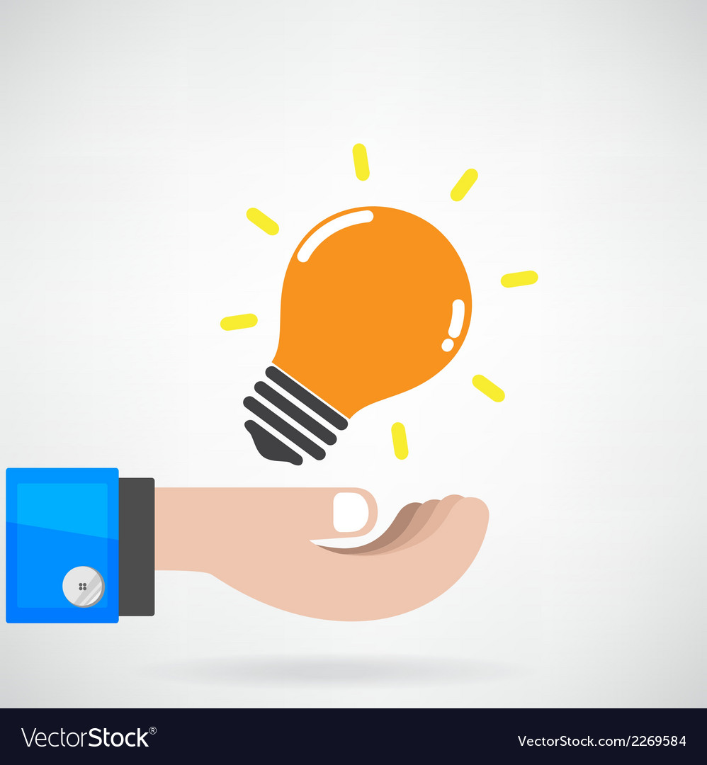 Creative light bulb idea concept with businessman vector | Price: 1 Credit (USD $1)