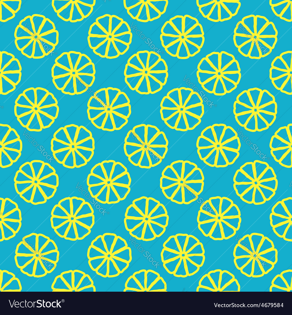 Lemon seamless pattern vector | Price: 1 Credit (USD $1)