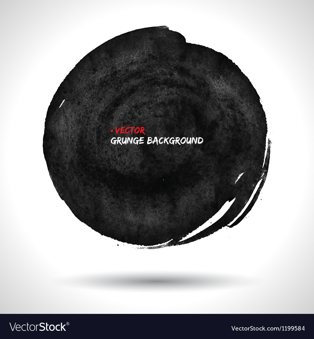 Round grunge shape vector | Price: 1 Credit (USD $1)