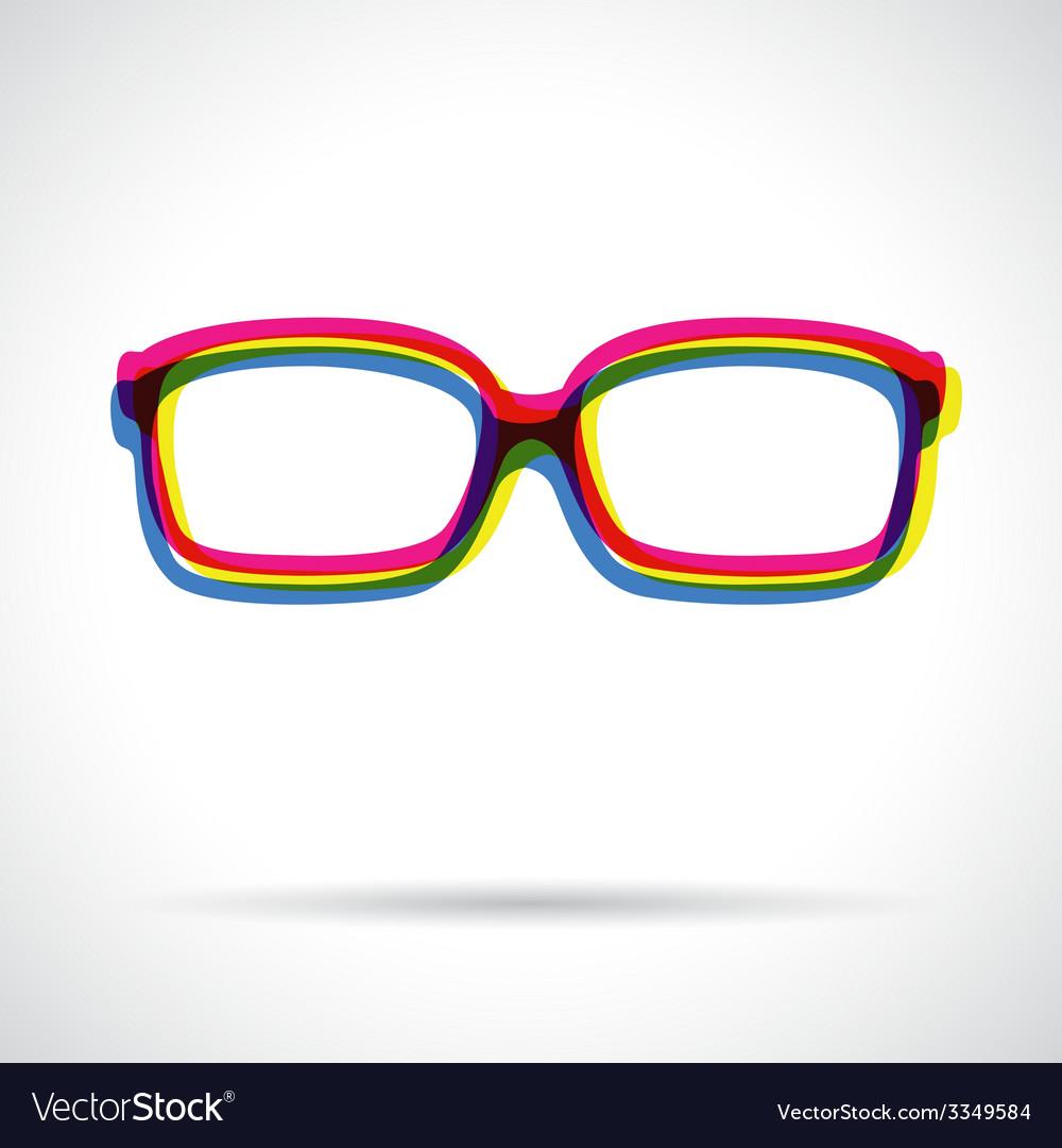 Sun glasses icon vector | Price: 1 Credit (USD $1)