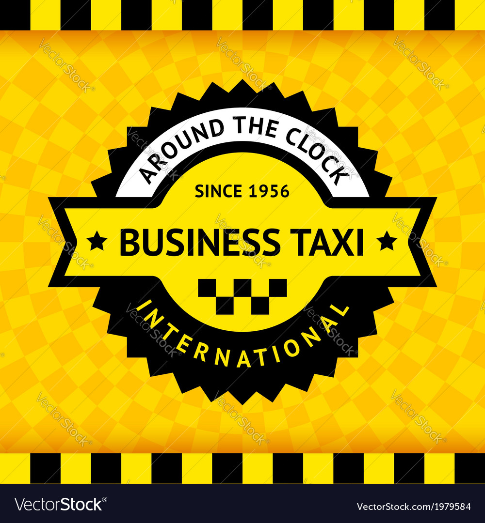 Taxi symbol with checkered background - 03 vector | Price: 1 Credit (USD $1)