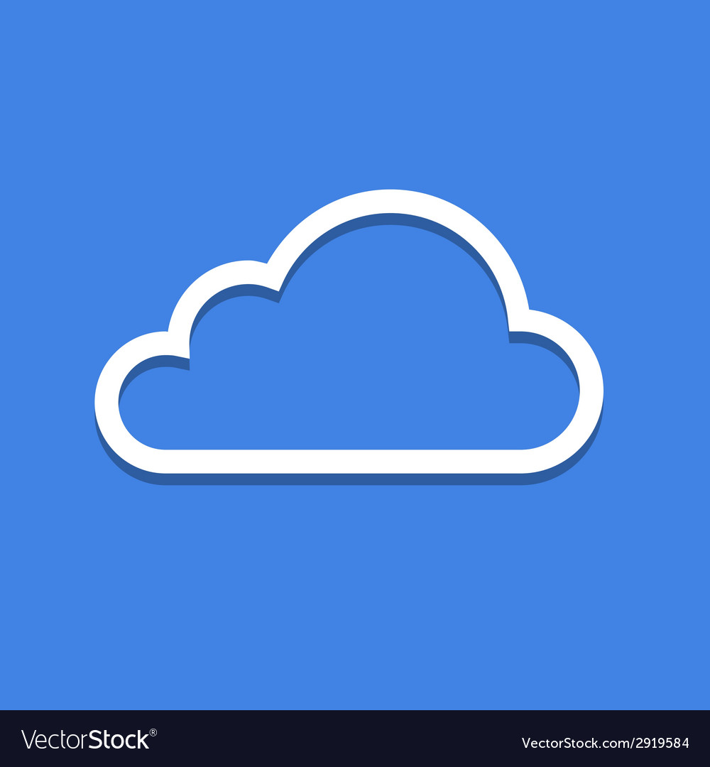 Web cloud icon vector | Price: 1 Credit (USD $1)