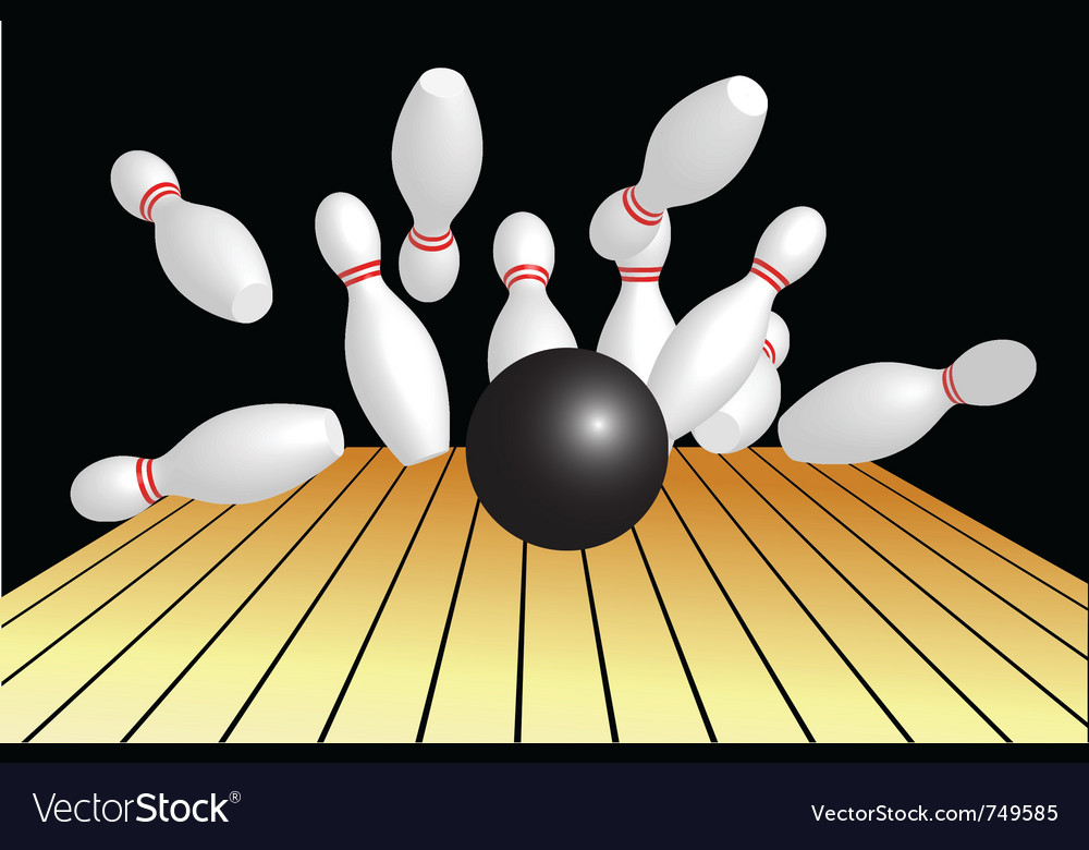 Bowling background vector | Price: 1 Credit (USD $1)
