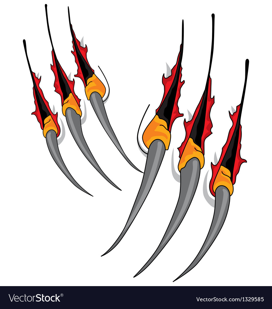 Claws scratches vector | Price: 1 Credit (USD $1)