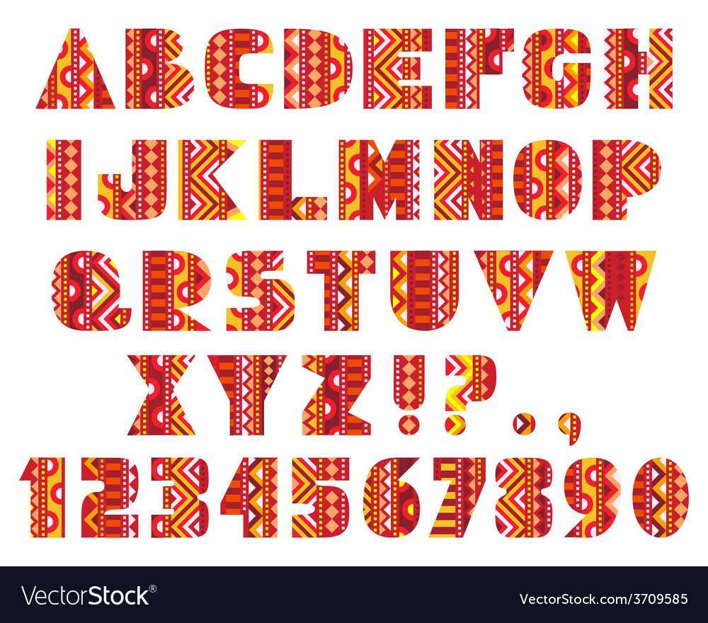 Decorative letters vector | Price: 1 Credit (USD $1)
