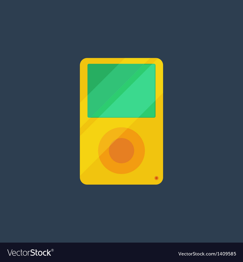 Flat media player icon vector | Price: 1 Credit (USD $1)