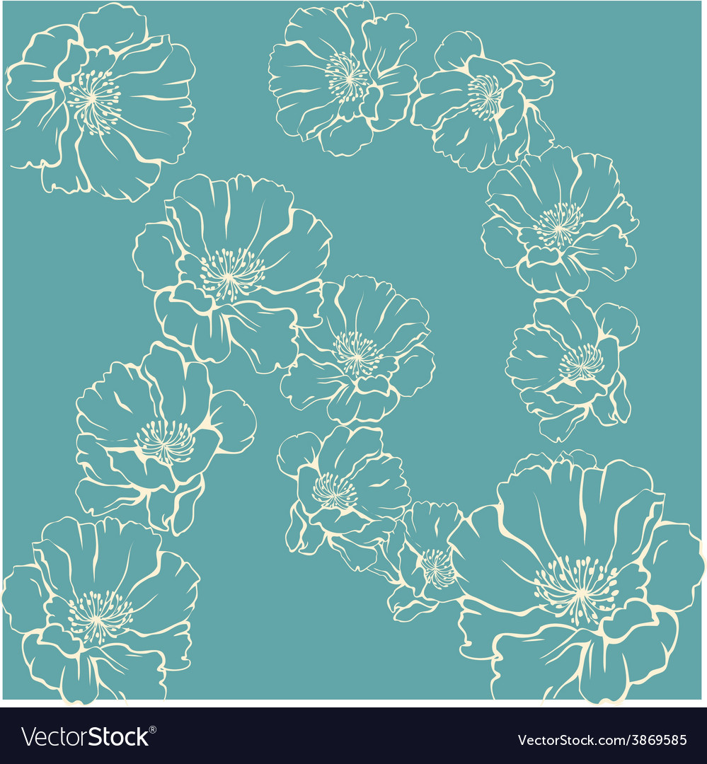 Flower ornament vector | Price: 3 Credit (USD $3)